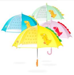 Gear girls en Ligne-Enfants Umbrella Enfants Mignon Petit Dinosaure En Trois Dimensions Belle Bande Dessinée Umbrella Long Manche Umbrella Rain Gear Pour Fille