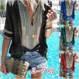 Vêtements ethniques en vrac en Ligne-T-Shirt Femmes Vêtements Designer Plus La Taille T-Shirt À Manches Courtes D'été Chemise Loose Casual Tops Mode Chemise Ethnique Vestidos Costume B4495