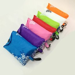 2019 strisce di mostra all'ingrosso Sacchetto pieghevole in poliestere ecologico in stile cinese creativo borsa per la spesa borsa per la conservazione in porcellana blu e bianca T2D5005