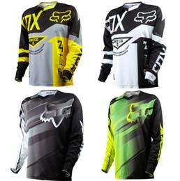 мотоцикл гоночный костюм Скидка FOX Пользовательские Трассы футболка MTB задействуя Джерси с длинным рукавом Top Мотокросс Быстросохнущий рубашки