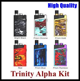 Trinity Alpha Kiti 2.8 ml Pod Sistemi Dahili 1000 mAh Pil Şınav tipi Doldurma Kapağı Benzersiz Kilit Düğmesi Vape Cihazı Yüksek kalit ... nereden