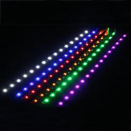 Bandes lumineuses led en Ligne-Bande LED Soft Light Bande 3528-1210 Patch 30CM-15SMD Lampe de Décoration de Voiture Colle Étanche 12V Bande Lumière Tendre Universelle