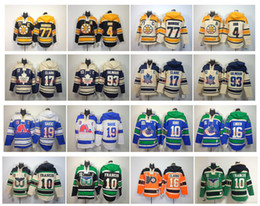 Raio hoodie on-line-Old Time Hoodie Hockey Jersey Boston Bruins Bobby Orr Ray Bourque Wendel Clark Doug Gilmour Toronto Maple Leafs Canucks Pavel Bure pulôver