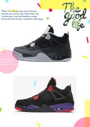 Argentina Zapatos de baloncesto 4s baratos Cemento blanco Oreo Kaws Negro Cool Grey Suede Laser DB Mujer Jumpman IV zapatillas de deporte botas cheap laser boots Suministro