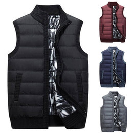 black sleeveless sweater Promo Codes - HEFLASHOR Autumn Winter Vest Men Casual Sleeveless Knitted Sweater Coat Plus Size Zipper Pockets Knitwear Chalecos Para Hombre