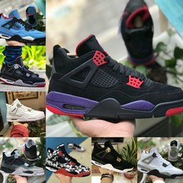brand new a2d94 d5a6b Verkaufen 2019 New 4 Tattoo JACK Travis Scotts X 4s Basketballschuhe Billig  Houston Oiler Weißer Zement Raptor KAWS Air Herren Billig Royalty Sneaker  ...