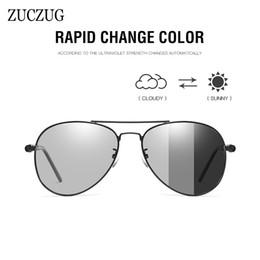 occhiali da sole piloti Sconti ZUCZUG fotocromatiche polarizzate occhiali da sole oversize Uomini Classic Pilot Occhiali da sole maschile guida di visione notturna occhiali Maschio UV400