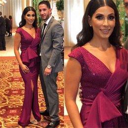 Сексуальное платье с v-образным вырезом и русалкой, вечернее платье с разрезом vestidos de noiva от