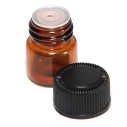 Botella de aceite esencial de vidrio ámbar de 2 ml (1/4 dram) Tubos de muestra de perfume Botella con tapón y tapas 5/8 dram desde fabricantes