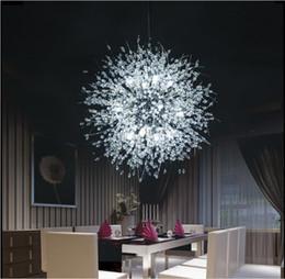 Lampadari moderni a fuochi d'artificio, illuminazione a sospensione con lampadario di cristallo, plafoniere per soggiorno camera da letto ristorante, 9 luci da