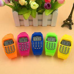 Noyokere Calculadora digital multifunción con función de reloj led Deportes de silicona casual para niños Niños calculando desde fabricantes