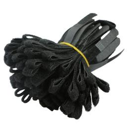Rangement de câble en Ligne-1000pcs noir câble cordon cravate sangle crochet et boucle collant adossé bande enrouleur fil organisateur porte-écouteurs cordon protecteur Protetor