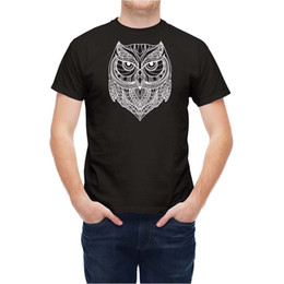 indian style shirt Promo Codes - Tshirt Indian Style Owl T2544W Size Discout Hot New Tshirt Tees Custom Jersey t shirt