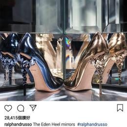 Rosa leopard pumpen online-2019 Neue Designer Rosa Hellblau Luxus Hochzeit Schuhe Perle Perle Spitz Stilett Ferse Abend Party Prom Schuhe Pumps