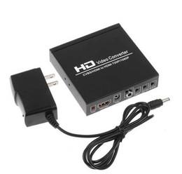 Convertidor av out online-Calidad HD 1080P HDMI a HDMI, AV CVBS a la caja de Audio Video Converter adaptador para XBOX PS4 jugador del juego de ordenador PC Salida de TV
