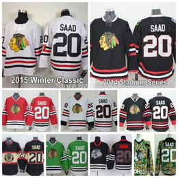d9693afc8 2016 Chicago Blackhawks Brandon Saad Jersey Home Red White Winter Classic Black  Cheap 20 Brandon Saad Stitched Hockey Jerseys