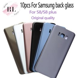 Samsung logo stickers online-Cubierta de la contraportada de la puerta de la batería de vidrio OEM 10pcs + etiqueta adhesiva para Samsung Galaxy S8 G950F S8 más G955F (logotipo simple o doble)