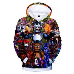 hoodies azuis do golfinho Desconto CRIANÇAS Cinco Noites em Freddy 3D Hoodies Moda Outono Com Capuz Manga Longa Cinco Noites no Freddy's Hoodies Moletons Roupas