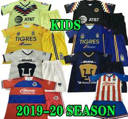 Estrela de casa on-line-GIGNAC crianças América 19 20 clube do México Tigres UANL 7 Estrelas CASA camisa de futebol Chivas Guadalajara Kits UNAM Pumasl AFASTA criança camisa de futebol