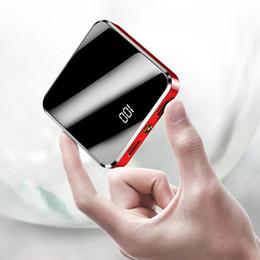 2019 specchio della banca di potenza 20000mAh Portatile Mini Power Bank Schermo a specchio Disply digitale Poverbank Batteria esterna Powerbank per smartphone intelligente sconti specchio della banca di potenza