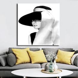 2019 arte da parede da lona de audrey hepburn Audrey Hepburn Chapéu Citação Minimalista Canvas Cartazes Impressões Arte Da Parede Pintura Imagem Decorativa Quarto Moderno Decoração de Casa arte da parede da lona de audrey hepburn barato