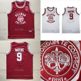 lbj elite Promotion Wayne 9 Hillman College Theatre Basketball Jersey Tous les hommes piqués Film maillots de basketball S-3XL