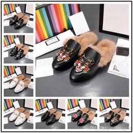 4129f4e4730 Zapatillas de mujer de calidad superior con tacones y pieles de punta  redonda para mujer de moda zapatos solteros zapatos de primavera y otoño  zapatos de ...