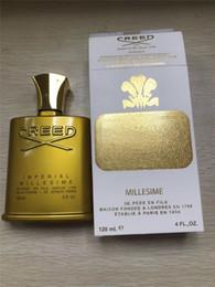 Lager parfums online-Heißer Verkauf Golden Edition Credo Millesime Kaiser Fragrance hohe Qualität Parfüm auf Lager für Männer 120ML Perfekte Scent Kostenloser Versand