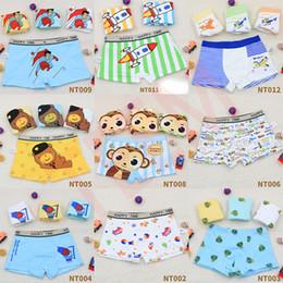Baby-slips online-DHL 4pcs / lot Jungen-Baby-Kind-Unterwäsche Boxer Cartoon-Unterhosen für Kinder Schlüpfer Panty Briefs Infant Teenager 3-8Y