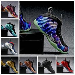 brand new f5e12 57c50 2019 Penny Hardaway Chaussures de basketball pour homme Alternate Galaxy  Legion Green Air Aubergine Marron Mousses Sport Sneakers US 7-13 mousse d air  de ...