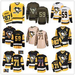 pittsburgh gewohnheit Rabatt Individuelle Pittsburgh Penguins 66 Mario Lemieux 87 Sidney Crosby 71 Evgeni Malkin 59 Jake Guentzel 58 Kris Letang 72 Patric Hörnqvist USA Flag h