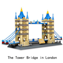 ponte giocattolo Sconti Diamond Blocks Architettura di fama mondiale London Tower Bridge Mini 3D Model Building Blocks Giocattoli per mattoncini di assemblaggio fai-da-te