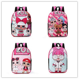 free baby packs Coupons - DHL free Backpacks for Children Kawaii Cartoon Dolls Schoolbag Baby Girls Fashion swagger bag Double Shoulder Pack Kids School zx006