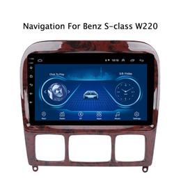 dvd tv tuner tiguan Rebajas Super Slim Android 8.1 GPS Para la Clase S W220 S280 S320 S350 S400 S420 S430 W215 radio del coche DVD Multimedia unidad de la pista del coche