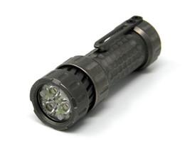 Rgb taschenlampen fackeln online-Mechforce - Mechtorch High End EDC Custom Taschenlampe, Titan Stonewash