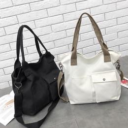 weiße farbe handtaschen Rabatt 35 # Frauen-Segeltuch-Handtaschen Frauen Männer Einkaufstasche Wiederverwendbare Einkaufstasche Farbe schwarz weiß Taschen Supermarkt Brief