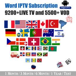 Deutschland IPTV Abonnement Frankreich USA Großbritannien Deutschland Niederlande Polen Australien Kanal 9200+ Global Live und VOD kompatible Android Firestick Smart TV Versorgung