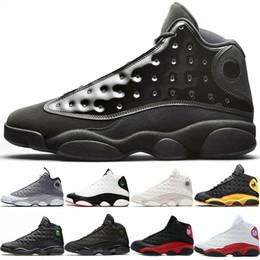 check out 6c537 a0de2 Nike Jordan Air Retro 13s Basketball-Schuhe 13 Männer Mütze und Kleid  Atmosphäre Grau Er bekam Spiel schwarze Katze Phantom gezüchtet Herren  Trainer Sport ...