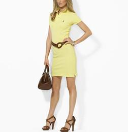 Chaude 2019 Livraison Gratuite Chaude 100% Coton femmes marque polo robes Mode Casual Robes pour les femmes polos Cinq couleurs S-XL ? partir de fabricateur