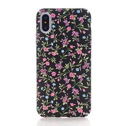 Teléfono de hermoso diseño online-3D Kawaii Rose Flower Vintage Design Case para iPhone X XS 8 7 6 S 6s Plus 7plus 8plus I Phone Beautiful Cases Corea Floral Pintura Cubierta