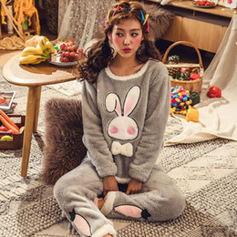 4ab0e69a32 JINUO New Arrival Products Cute Cartoon Animals Women Winter Plush Pajama  Sets Young Ladies Warm Lovely Soft Home Wear Sleepwear discount women  winter home ...