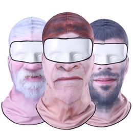 máscara dos homens velhos Desconto Esquimós Barba Velho Homem Balaclava Inverno Palhaço Snowboard Paintball Snowboard Biker Pescoço Capacete Chapéus Máscara de Rosto Cheio Mulheres