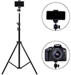 штативы Скидка Выдвижной штатив до 82 дюймов с креплением для мобильного телефона, штатив для камеры, совместимый с большинством мобильных телефонов