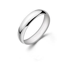 137af9a0c1ce 5 mm Sólido 925 Anillo de plata esterlina para mujer Hombre de alta calidad  de color oro blanco Aniversario regalo de cumpleaños