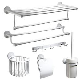Canada Accessoires de salle de bains en acier inoxydable à peindre blanc accessoire porte-papier toilette porte-serviette anneau monté Offre
