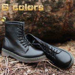 Designer oxford sapatos on-line-Melhor couro Quilty Homem Mulher Eegland stly Martens inverno quente Shoes Designer Motos Botas Botim Oxfords Martin Botas UE 36-46