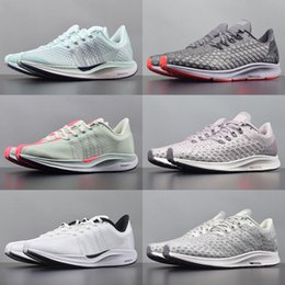 white knit fabric Promo Codes - 2019 Pegasus 35 turbo fly running shoes mens new air mesh zoomx react runners womens knit black white pink trainers size 36-45