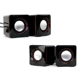 Deutschland Preiswerte tragbare USB-Computerlautsprecher mit 6 W USB-Stereokombinationslautsprecher mit 3,5-mm-Klinkenstecker USB 2.0-Subwoofer-PC-Lautsprecher Versorgung