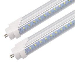 2019 luz del refrigerador del solo perno de 5ft led 18W / 22W / 32W en forma de V-T8 llevó el tubo 3 pies enfriador de puerta lados dobles SMD2835 Led luces fluorescentes 0.9m AC85-265V