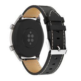 simple watches for men Coupons - 2019 Watchbands Fashion Leather Replacement Bracelet Strap Band For Huawei Watch GT Smart Watch Fashion Simple Men Belts